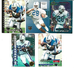Lot of 5 including 1995 Finest Marshall Faulk #125 Rookie Card RC With Coating $6.00