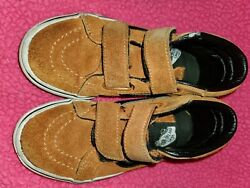 Boys High Top Vans Size 12.5 Leather $11.50