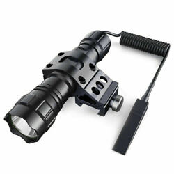 1000 Lum Tactical Flashlight LED Rechargeable for Outdoor Hunting Shooting $17.09