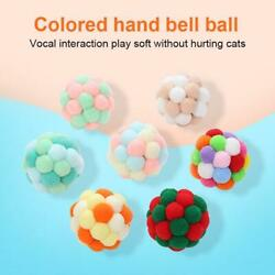 Pet Supplies Cat Self excited Ball Plush Bell Ball Multicolor Throwing Toys 4cm $2.49