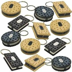Sandwich Cookie Flashlight Keychains Pack of 24 LED Key Chains in Assorted $22.07