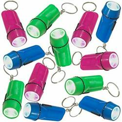 Flashlight Keychains Pack of 24 LED Key Chains in Assorted Colors 2.25 $20.51