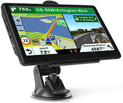 Car Gps Navigation 7 Inch Touch Screen With Maps Spoken Direction 2021 $100.01
