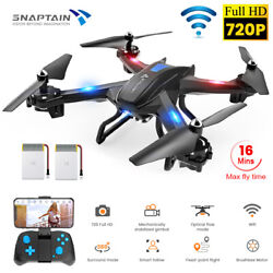 SNAPTAIN S5C WiFi FPV Drone 720P HD Camera Voice Control RC Quadcopter Brushless $35.99