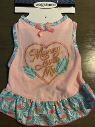WAG amp; BONE quot;MOMMY LOVES MEquot; Dress Puppy Dog SMALL $16.50
