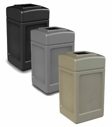 Commercial Outdoor Trash Can Large 42 Gallon Site Lot Garbage Waste Container.