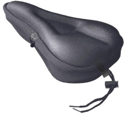 Bike Gel Seat Cover Comfortable Exercise Bicycle Saddle Cover Cushion Non Slip $10.89