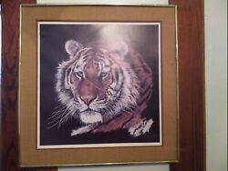 Antique Oil Painting Of A Lion And Signed $177.00