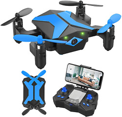 Drone With Camera Drones For Kids Beginners Rc Quadcopter With App Fpv Video $60.99