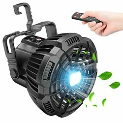 Camping Fan with LED Lantern 7800mAh Rechargeable Portable Tent Black $24.29
