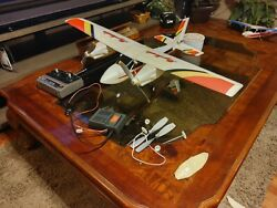 90s Twin Master Electric RC Airplane Powerful Rare $125.00