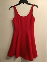 Hamp;M DIVIDED Womens red dress size 6 NWT $8.99