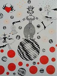 Ballerina Art Decor Wall on Stretched Canvas HAND MADE lt; $34.99