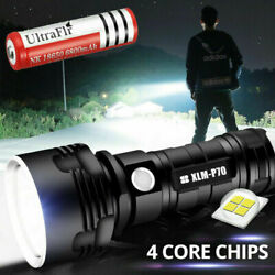 Super bright Flashlight 90000LM LED Rechargeable Shadowhwak Tactical Torch 18650 $14.99