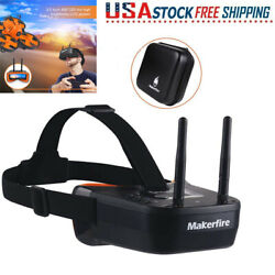 5.8G Mini FPV Goggles 3quot; 40CH Video Headset Glasses Double RP SMA For RC Drone $47.49