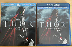 Thor Blu ray Limited 3D Edition DVD W Slipcover $9.45