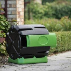 Outdoor Compost Tumbler Bin Kitchen Yard Waste Trash Composter Container 37 Gal $149.89