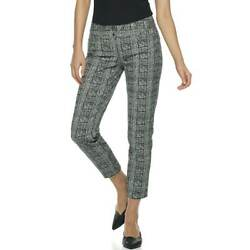 Apt. 9 Torie black white patterned ankle pants NWT womens#x27; 12 stretch $48 $14.99