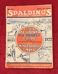 Antique 1922 Spalding Official Ice Hockey Guide Catalog Vintage Old Early Sports $69.99