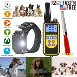 Dog Training Collar Rechargeable Remote Shock Control Waterproof IP67 880 Yards $13.99