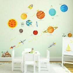 Planet Wall Stickers Solar System Wall Stickers Space Wall Stickers Decoration $9.28