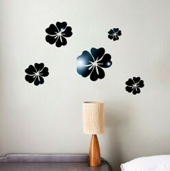 3D Mirror Floral Art Removable Wall Mural Decor Acrylic Decal Wall Sticker Home $49.98