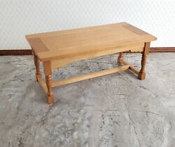 Dollhouse Large Kitchen or Prep Table Light Walnut 1:12 Scale Furniture $12.00