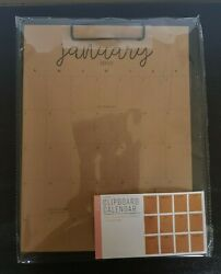 2020 Clipboard Calendar 9quot; x 11.8quot; 12 Monthly Pages New $9.89