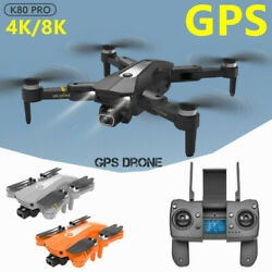 K80 GPS Drone 5G With 8K 4K HD Camera WIFI FPV RC Foldable Quadcopter Brushless $133.88