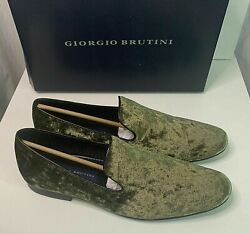 Giorgio Brutini Mens Conway Slip On Penny Loafer Dress Shoes Green Suede Sz 8.5M $24.95