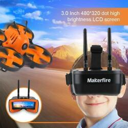 5.8Ghz Mini FPV Goggles 3 Inch 40CH FPV Video Headset Glasses for FPV RC Drone $45.69