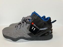 MENS AND1 CAPITAL 4.0 GRAY BLUE BLACK ATHLETIC BASKETBALL SHOES SNEAKERS Size 11 $28.00