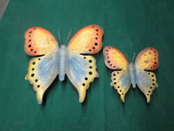 Set Of 2 Wall Butterfly Garden Or Wall Decor Nice metal Art Decoration FREE SHIP $25.95