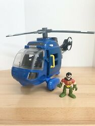 2007 Fisher Price Imaginext Batman Helicopter DC Super Friends BatCopter amp; Robin $15.00