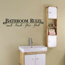 quot;Bathroom rulesquot; Wall Stickers Removable Art Vinyl Quote Decal DIY Decor Windows $5.58