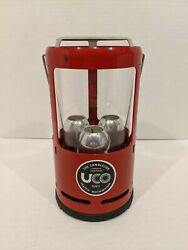 Uco 3 Candle Lantern camping outdoors Red color Y2 C $39.95
