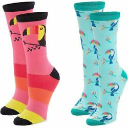 Toucan Socks for Men and Women Novelty Sock Set One Size 2 Pairs $9.99