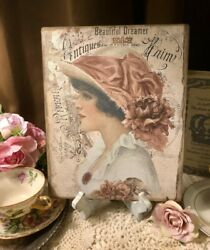 BEAUTIFUL DREAMER Romantic Shabby Chic Handcrafted Plaque Sign 8x10 $14.99