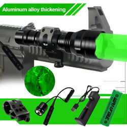 White Red Green LED Tactical Flashlight Mount Pressure Switch Battery Charger $21.99