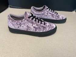 Rare Womens Vans Old Skool Lilac Crushed Velvet Skate Shoes. Size 7. Awesome $49.99