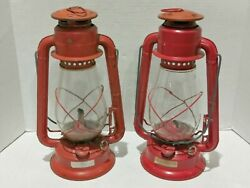 Vintage Dietz Lantern Red Made in Hong Kong Lot Of 2 $59.99