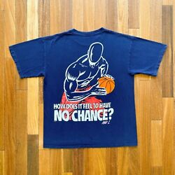 VINTAGE AND1 BASKETBALL quot;HOW DOES IT FEEL TO HAVE NO CHANCE?quot; PRINTED T SHIRT $69.99