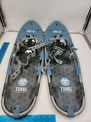 """TUBBS Snowshoes Timberline 30 Mens Snowshoe 8"""" X 30"""" Aluminum Frame amp; Carry Bag $99.95"""