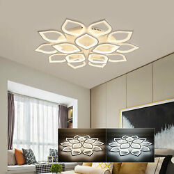 Acrylic Ceiling Light Modern LED Dimmable Chandeliers Home Lights Fixtures