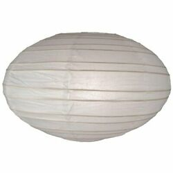 White Oval Paper Lanterns 13 pcs 35 cm 14 in Hanging Party Wedding Decor Folds $14.95