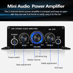 Stereo Amplifier Power Speakers for Desktops Car Ceiling Wall Bedrooms Home $17.72