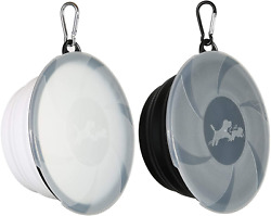 Collapsible Dog Bowl2 Pack Portable and Foldable Pet Travel Bowls Collapsable D $21.04