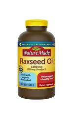 Nature Made Flaxseed Oil 1400 mg Softgels for Heart Health 300 ct. 01 2022 $14.90