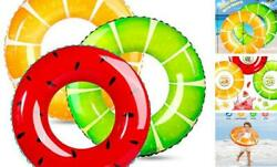 3 Pack Swimming Rings for Kids Adults Inflatable Pool Floats Fruit Pool Tubes $21.46