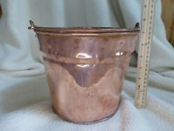 Copper Pail Bucket with Handle Large $40.00